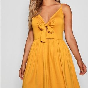 Boohoo Plus Knot Front Swing Dress US 20